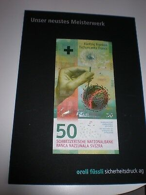 RARE AND VERY LIMITED CIRCULATION SWITZERLAND SWISS 50 FRANCS polymer GEM