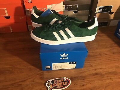 newest 03bdd e60db New Adidas Campus 80s Green Suede Size 10 Retro Vintage Vtg Rare Authentic  Dmc