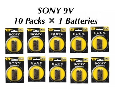 10Pk Sony 9 Volt Pp3 Ultra Heavy Duty Carbon Zinc Battery Used For Smoking Alram