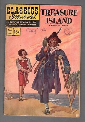 Classics Illustrated Comic book Treasure Island   #338