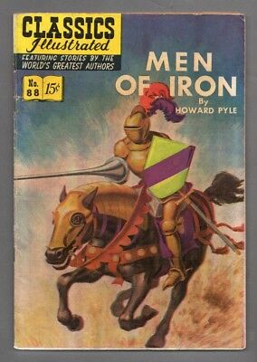 Classics Illustrated Comic book 1951 Men of Iron #336