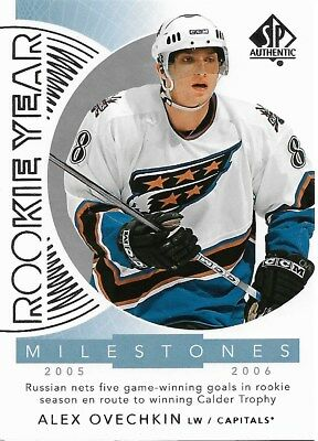 Alex Ovechkin #RYM-AO - 2017-18 SP Authentic - Rookie Year Milestones