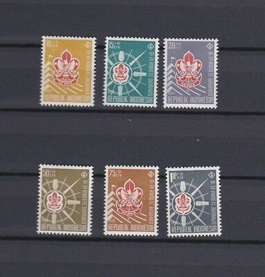 indonesia stamp set scouting  lightly mounted mint