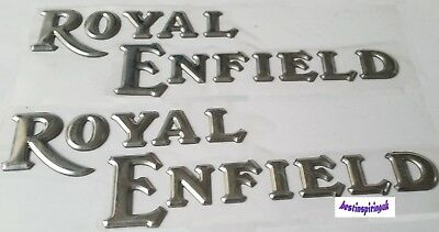 Royal Enfield Bullet Silver Logo Sticker Decal For Fuel Tank