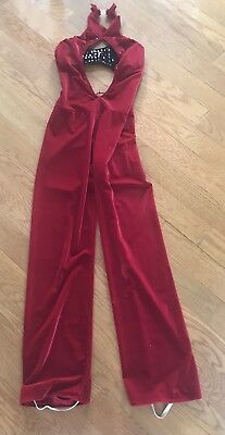 Beautiful Dance Costume RED AND BLACK, SIZE M