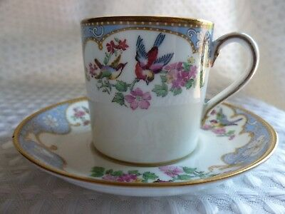 crescent china bordeaux pattern  - Demi Tasse Coffee Cup / Can & Saucer g jones