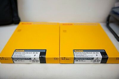 2 boxes - Kodak Polycontrast III RC Paper F 8x10 100 Sheet Sealed EXP 12/02