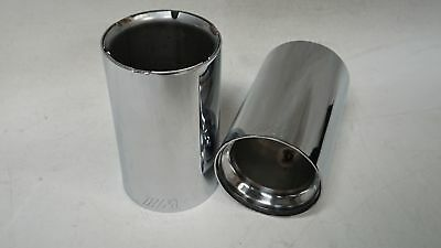 OEM M Sport Performance Exhaust Tip Finishers Chrome / Stainless (BMW)