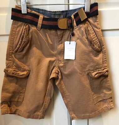 Pumpkin Patch Boys Cargo Shorts with belt BNWT RRP$ 39.99