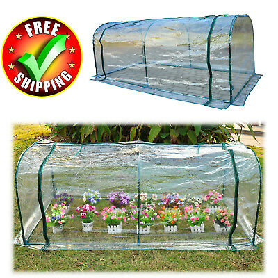 Portable Greenhouse Kit 7x3' Walk In Plant Outdoor Garden PVC Cover Steel Frame