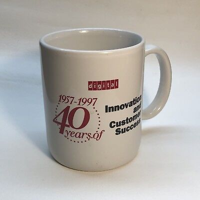 Vintage 1997 Digital Equipment Corporation DEC 40 Years Stoneware Mug Cup Exc