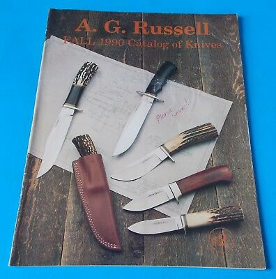 Fall 1990 A.g. Russell Catalog Of Knives! Stidham Estate