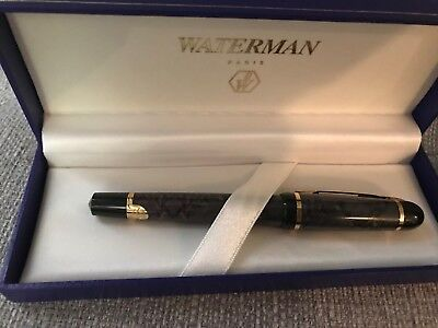 Waterman Phileas Grey Marble  Rollerball Pen    New In  Box Very Rare