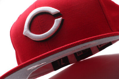 bc17d30454523 Cincinnati Reds New Era 59Fifty Fitted Hat Worn in 1999 Grey Bottom  Red/White