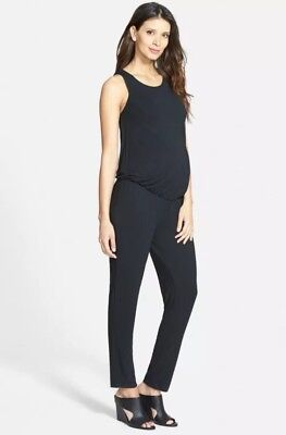 Tart Maternity Jumpsuit Body Suit Sz XS Stretchy Sleeveless Black NWT