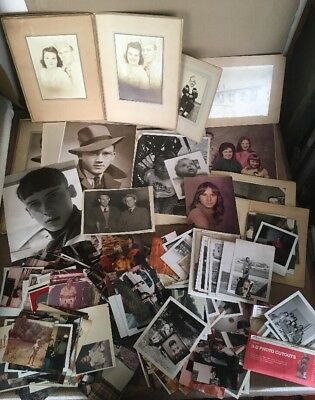 HUGE Mixed Lot Vintage Photos Pictures Old Antique Black White Color