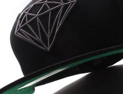 Diamond Supply X New Era 59Fifty Fitted Baseball Cap - Black/Black/Grey
