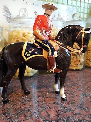 Vintage Beswick Canadian Mountie On Horse Model 1375