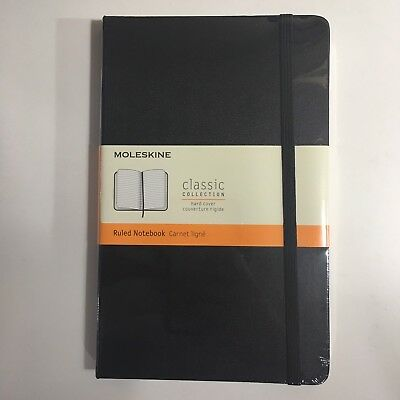 Moleskine Classic Rule Notebook Black Hard Cover 240 Pages Large 5x8.25 IN Lined