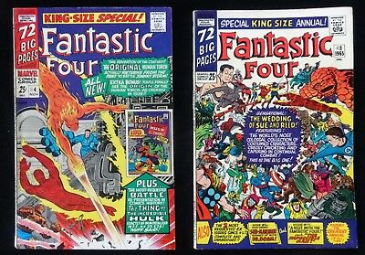 Marvel Comics Fantastic Four Lot of 2 - Special King Size Annual #3 & #4