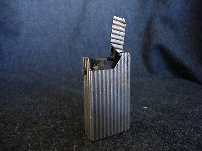 "Ancien Briquet Essence Art-Déco Vintage DUNHILL ""Broadboy"" petrol lighter"
