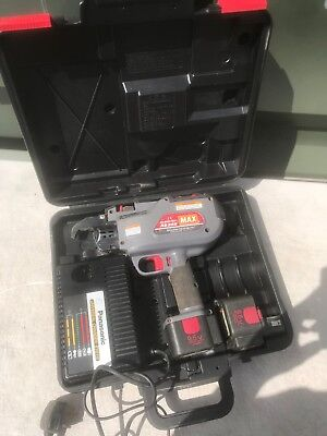 MAX RB395 Cordless Re-Bar Tier In Case Inc 2 x Batteries & Charger