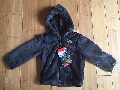 NWT The North Face Baby Boys Oso Graphite Gray Hoodie Fleece Jacket ~ 12-18m