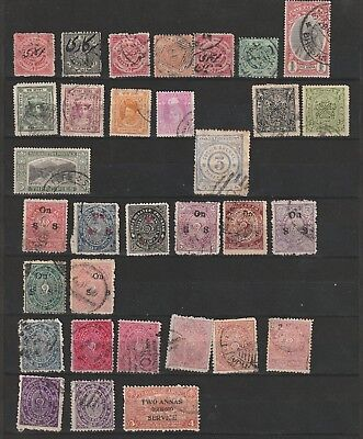 India states stamps lot used unchecked