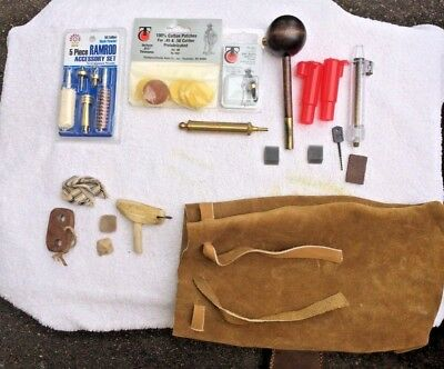 Black Powder Possibles Bag With New And Vintage Tools