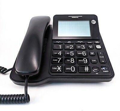 AT&T CL2940 Corded Telephone w/ Large LCD Display - Black - FREE PRIORITY SHIP