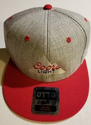 Coors Light Adult SNAPBACK Snap Back Flat Bill Hat Cap OTTO NEW! Baller NWT