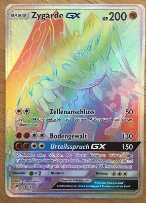 Zygarde GX 136/131 RARE RAINBOW German Pokémon Karte