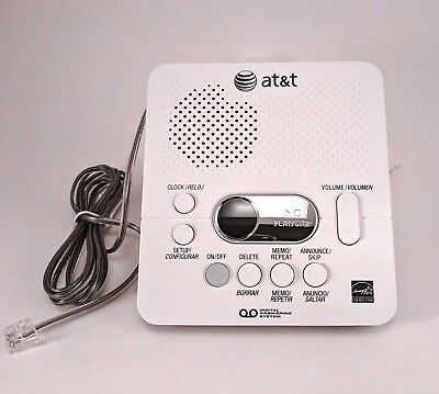 AT&T 1740 Digital Answering Machine Voicemail - White - FREE SHIPPING