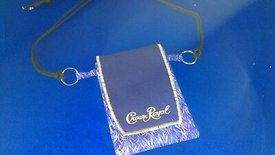 NEW Cell phone passport Bag CROWN Royal Purple snaps  free shipping