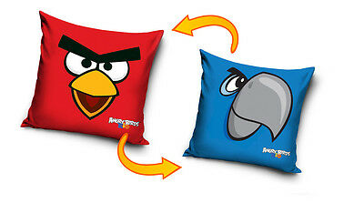 NEW LICENSED ANGRY BIRDS RIO RED / BLUE cushion cover 40x40cm 100% cotton