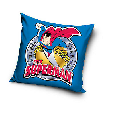 NEW LICENSED SUPERMAN IT'S HERO cushion cover 40x40cm 100% COTTON
