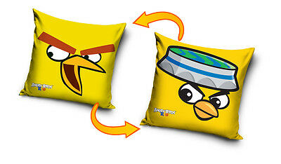 NEW LICENSED ANGRY BIRDS RIO YELLOW cushion cover 40x40cm 100% cotton