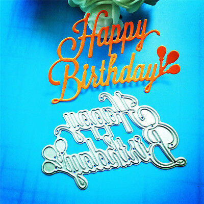 Happy Birthday DIY Paper Template Die Cut Embossing Machines Cutting Moulds Tool