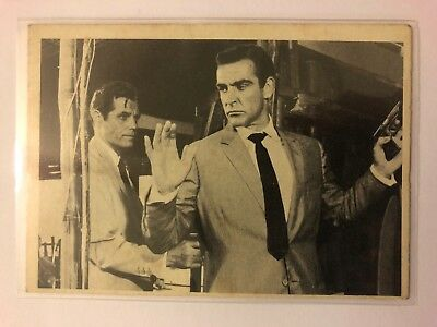 1965 JAMES BOND Secret Agent 007 Scanlens Card #6 The Aliens Meet VGC