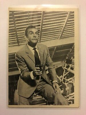 1965 JAMES BOND Secret Agent 007 Scanlens Card #7 Licensed To Kill