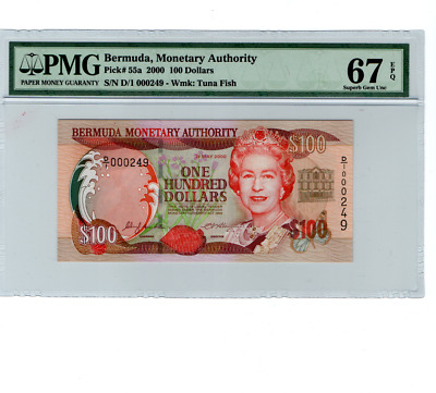 Bermuda Monetary Authority 100 Dollars 2000 MS 67 Superb Gem