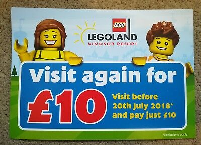 Legoland Windsor £10 Entry with Voucher Valid Until 20th July 2018