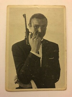 1965 JAMES BOND Secret Agent 007 Scanlens Card #19 Secret Service Agent 007