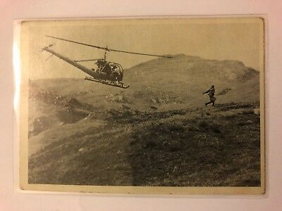 1965 JAMES BOND Secret Agent 007 Scanlens Card #34 Haunted By Helicopter