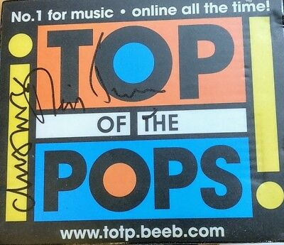 TOTP Mousemat signed by Neil Tennant and Chris Lowe of the Pet Shop Boys rare