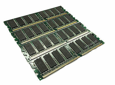 4GB 4 X 1GB PC2700 DDR 333 MHz DIMM Low Density Desktop Memory RAM Acer Dell HP