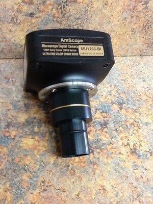AmScope  Microscope Digital Camera MU1203-bl 12 MP with FMA075 Fixed Adaptor