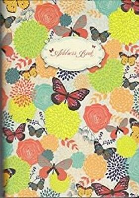 "Address Book by Piccadilly Floral Design 7""x5"" Brand New! Hardcover"
