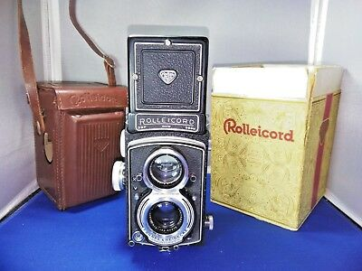 Rollei Rolleicord V TLR Camera Xenar 75mm 3.5 W/ Case and Original Box