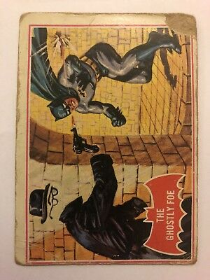 1966 Batman Scanlens Card Series A - Red Bat Set #1 The Ghostly Foe